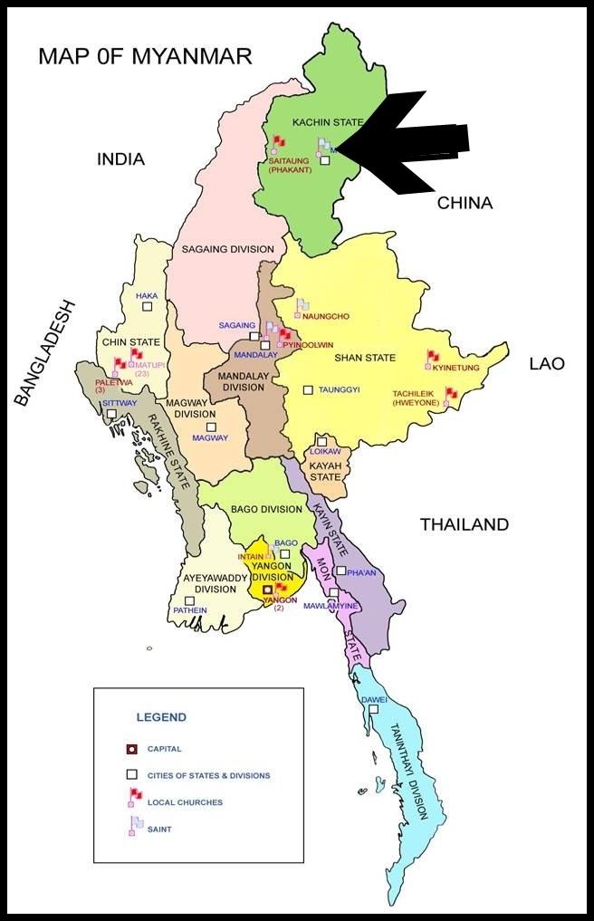 Rayburkholdercom Come Over Into Myitkyina Myanmar And Help Us - Where is myanmar